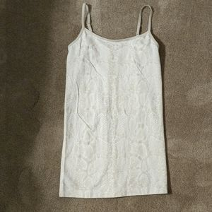 Tan and cream camisole by Apt 9